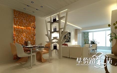 床头背景墙什么颜 家具是胡桃木色