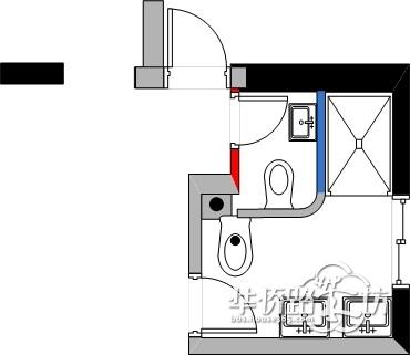 隐形马桶排水尺寸图