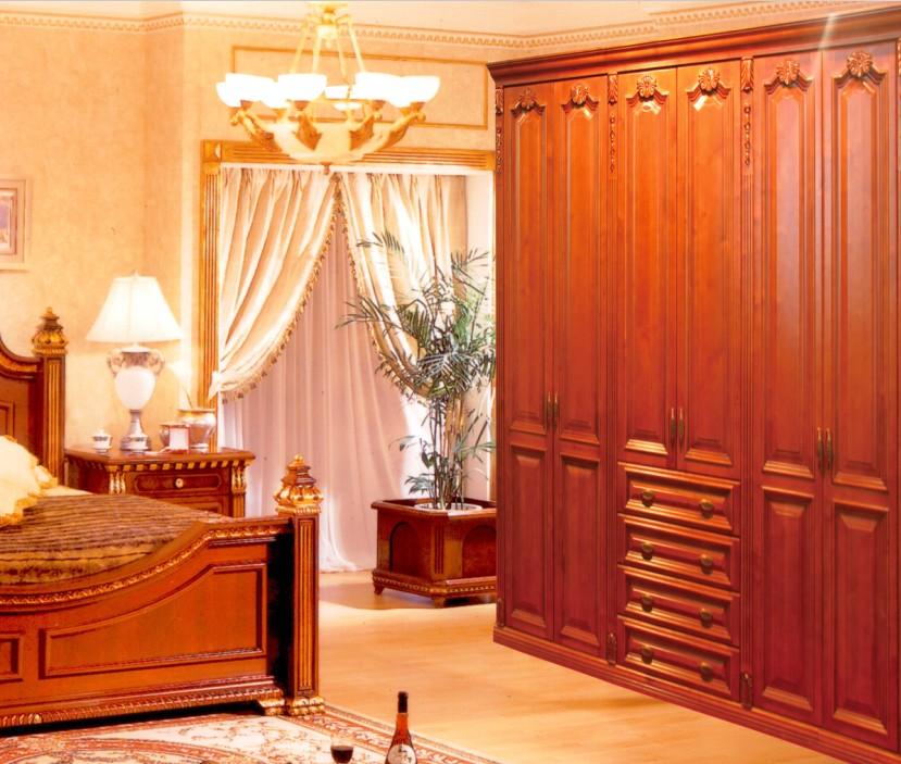 豪华卧房实木衣柜效果图展示