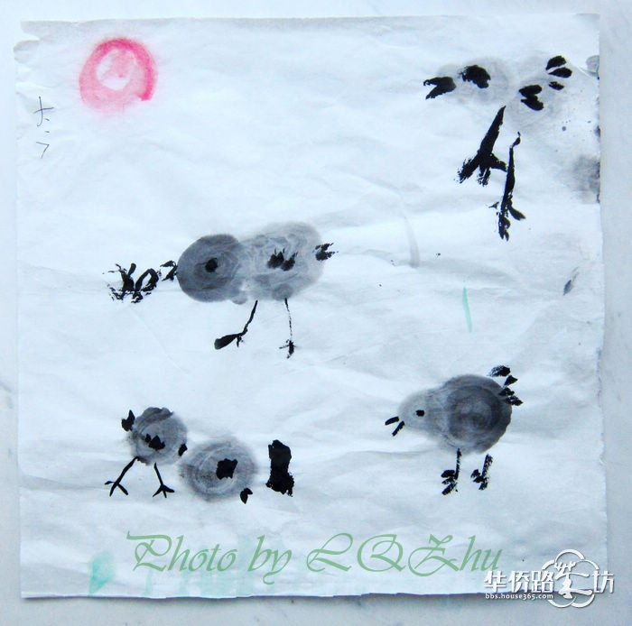 小朋友在幼儿园画的水彩画