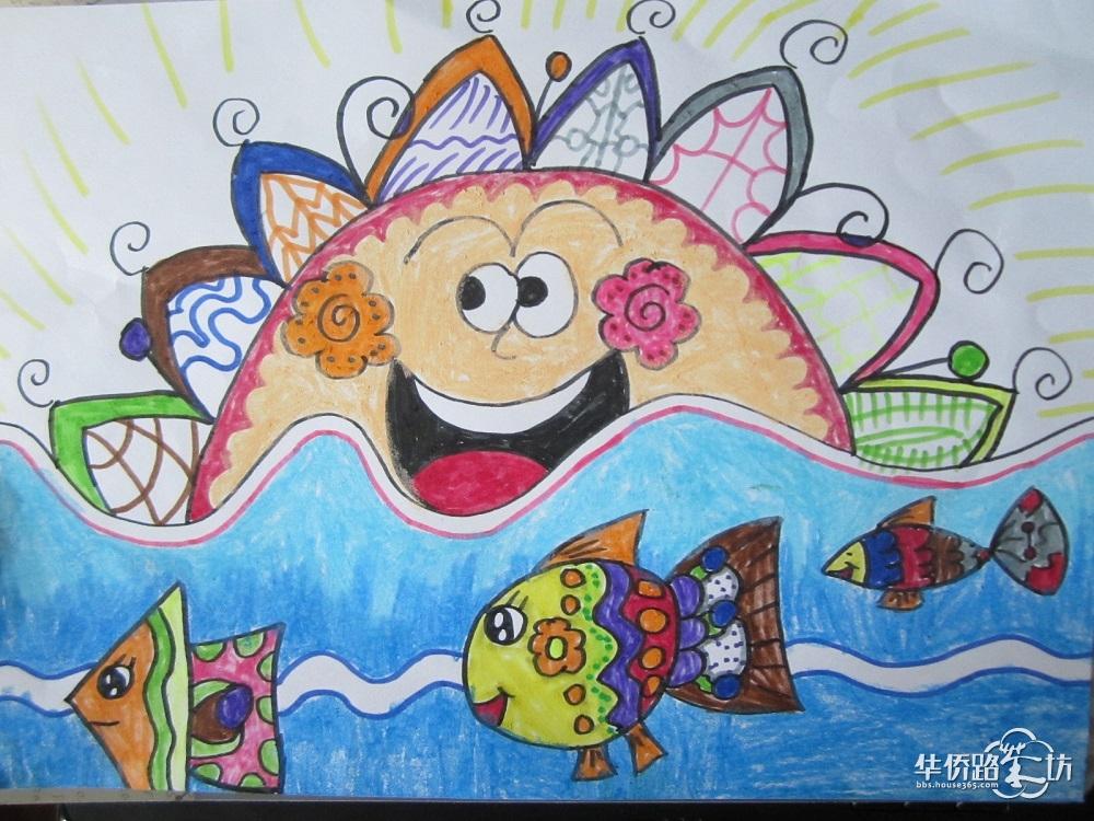可爱的儿童画_(h)恒盛金陵湾
