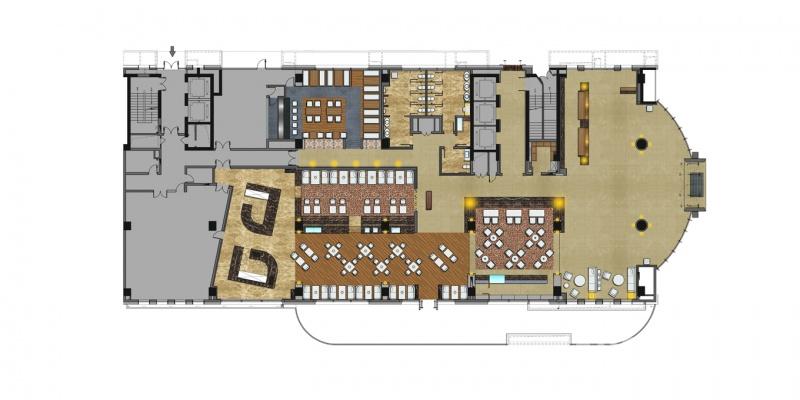 某深圳酒店大堂与客房平面图设计欣赏