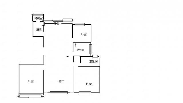 【鑫洋100%真房源】勤德家园-精装4房-户型好-楼层好-采光佳-满5年
