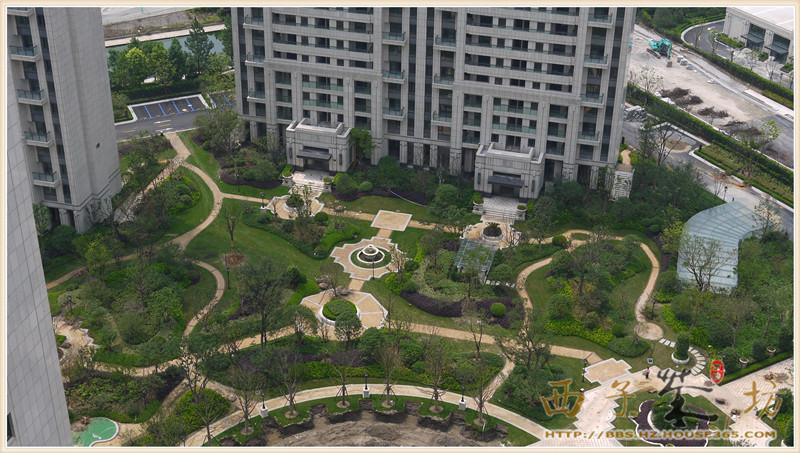 欧式别墅庭院景观鸟瞰