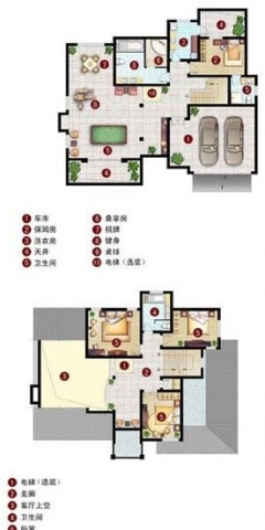 农村房三开间平面设计图展示