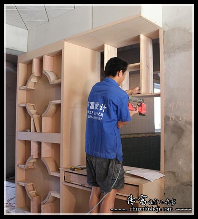 江畔明珠广场在线工地木工阶段_传富设计工作室-365宝