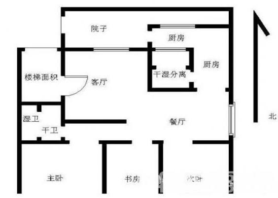 6o平米三房一厅设计图