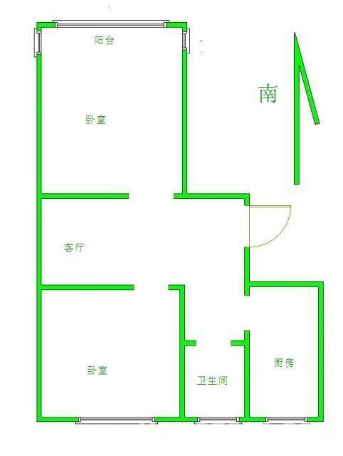 水月秦淮2室2厅2卫112平米2008年产权房毛坯