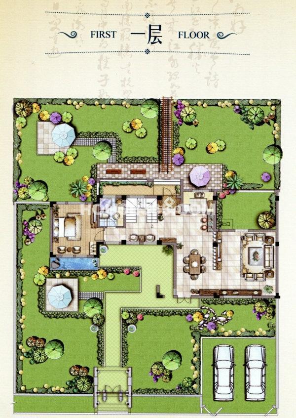 城市绿地公园平面设计图展示