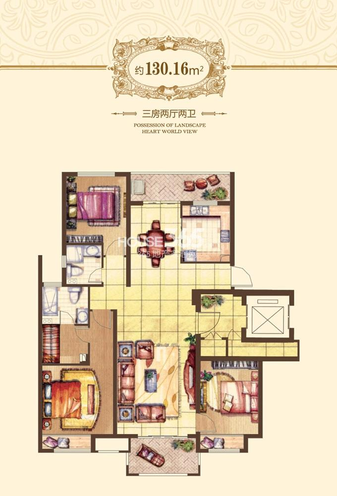 融侨观邸户型图一期10#标准层(6.19)