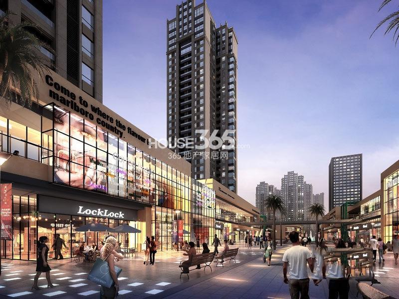 重庆巴南万达广场商业透视效果图