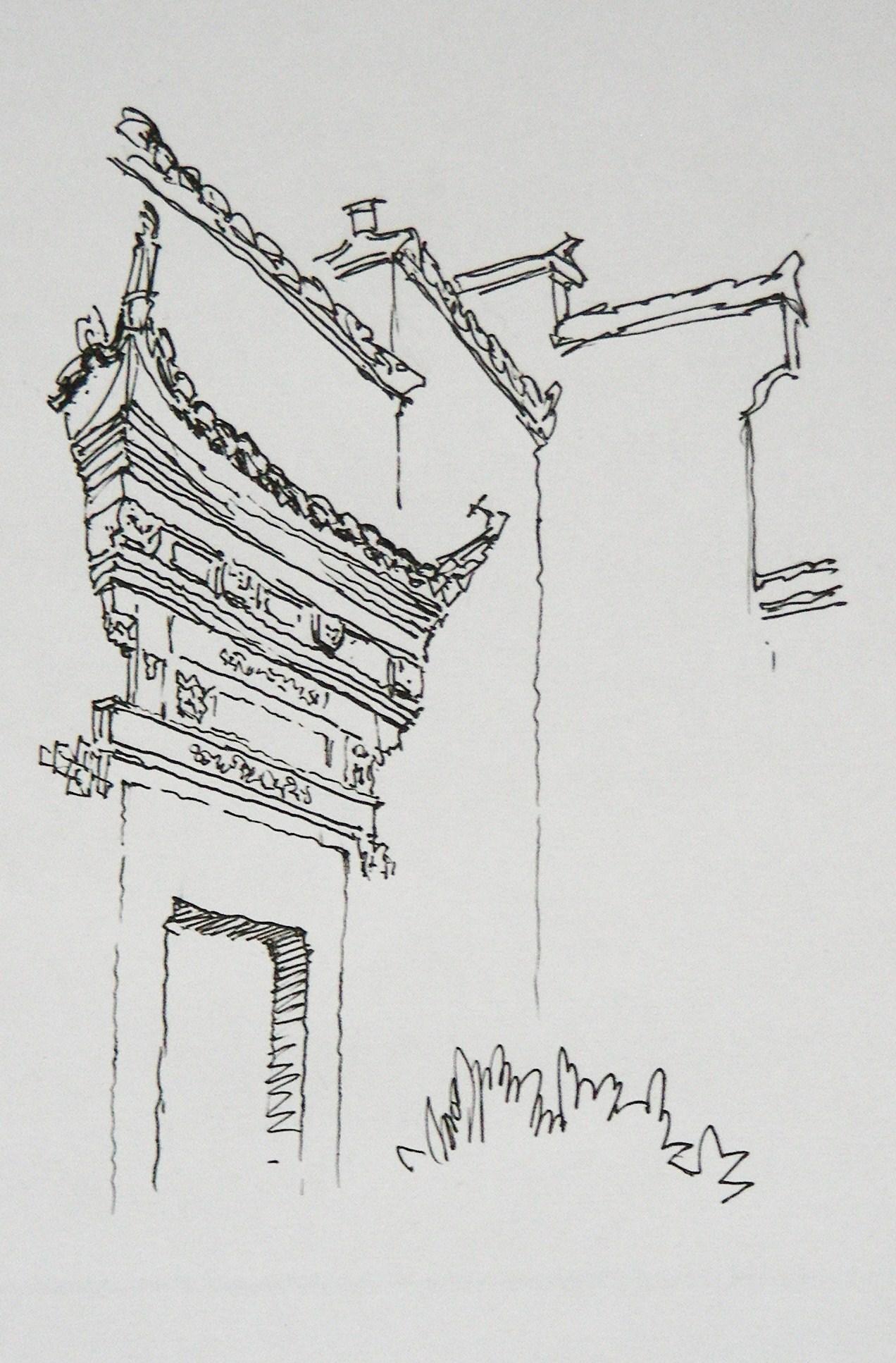 徽州马头墙手绘