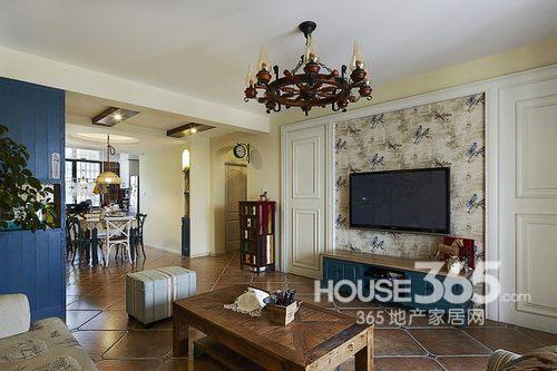 90平米装修两室两厅 美式混搭风超温馨高清图片
