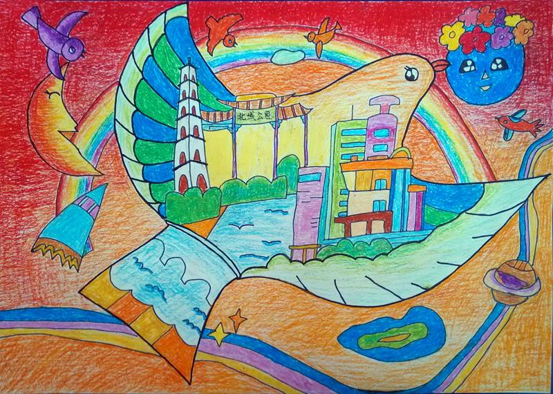 关于我中国梦儿童画