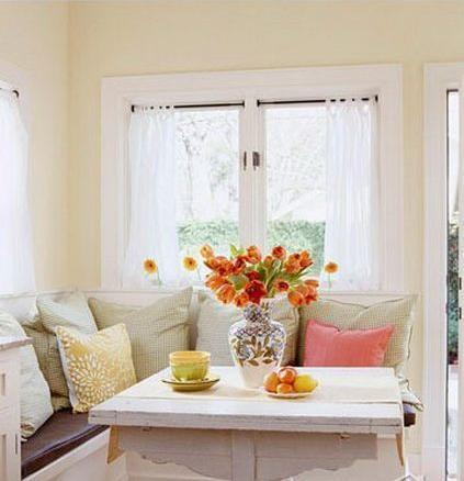 高飘窗装修效果图; 视觉与味觉的双重享受 飘窗变身餐厅设计