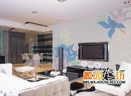 客厅贴壁纸效果图,看了几个比较喜欢的