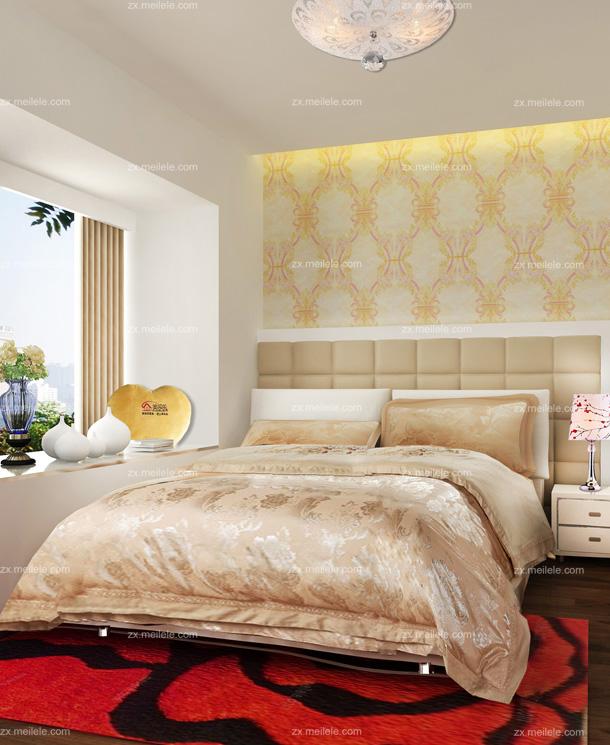 欧式卧室壁纸装修效果图 打造最温馨时尚的卧室