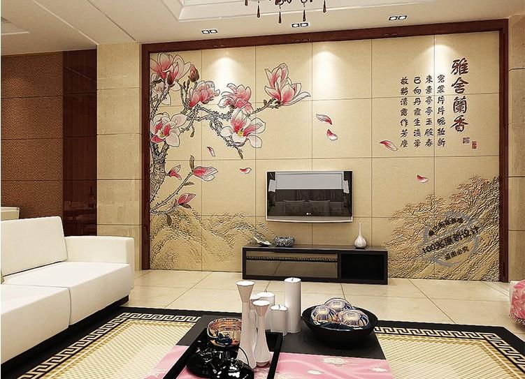 瓷砖电视墙效果图