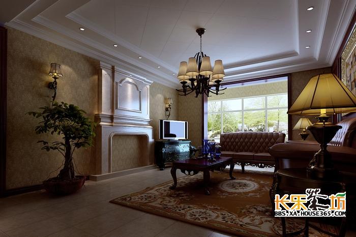 房屋装修设计图 曲江诸子阶188平米美式风格装修