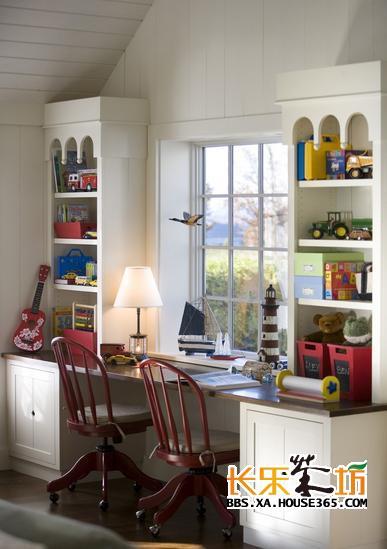 儿童书房装修效果图 培养学习兴趣从小做起